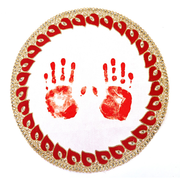 Wedding Ritual Embroidery Designer Footprint