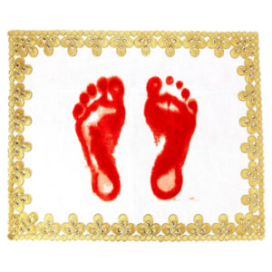 Gold Zari Embroidery Footprint for Guru