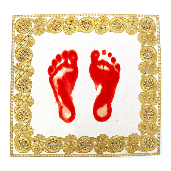 Golden Textile Fabric Crafts for Footprint