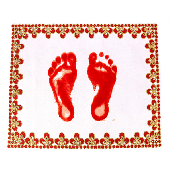 Red handwork Designer Footprint